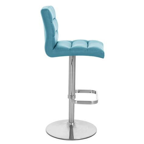 Teal Blue Bar Stools by Lush Adjustable Height Swivel Armless Bar Stool Zuri