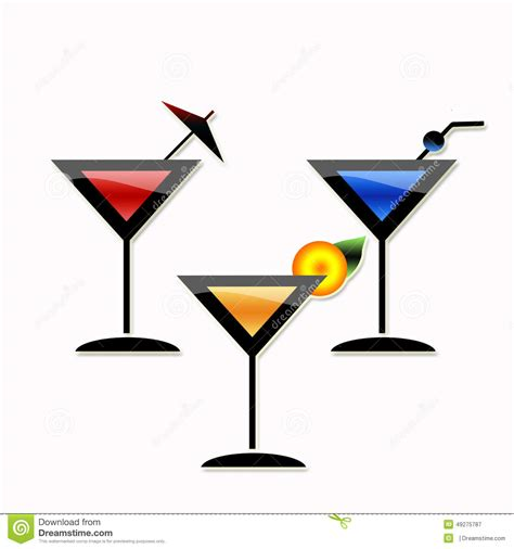martini party cocktail martini party stock illustration image of