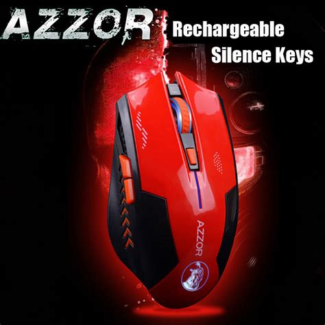 Mouse Gaming Gaming Mouse Azzor Wireless Rechargeable Usb 2400 Azzor Mouse Gaming Wireless Rechargeable Usb 2400 Dpi 2 4g