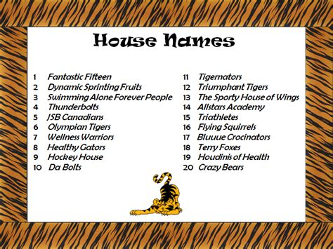 s bell junior middle school gt tiger den gt house names