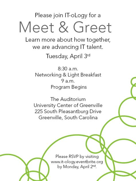 Sle Invitation For Meet And Greet It Ology Ucg Meet Greet Registration Tue Apr 3 2012 At 8 30 Am Eventbrite