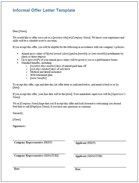 Offer Letter Informal orientation feedback form 8 seminar feedback form sle