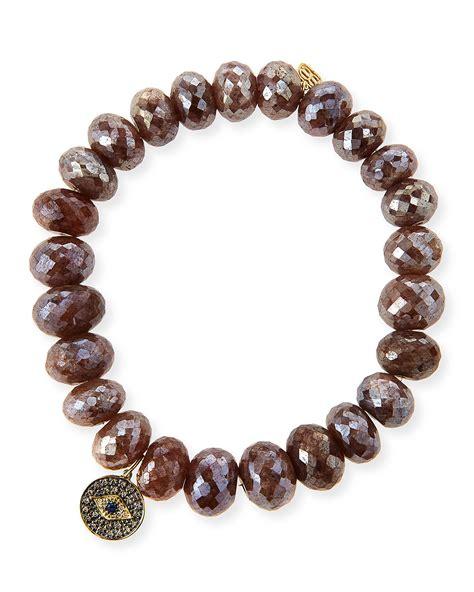 brown beaded bracelet sydney evan 8mm faceted brown silverite beaded bracelet