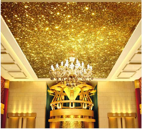 3d Wallpaper Ceiling 13314964 1 3d ceiling murals wallpaper bright gold particles zenith ceiling design home decoration ceiling