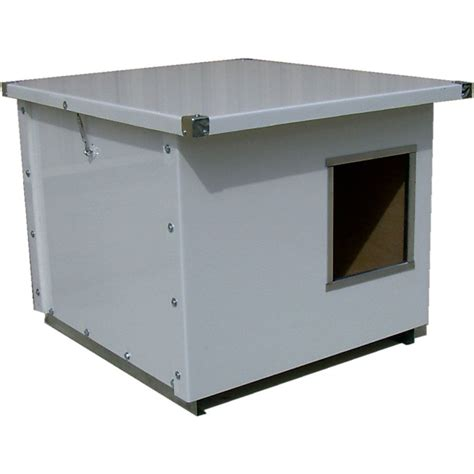dog house at lowes shop options plus 2 ft x 2 5 ft x 2 41 ft metal dog house at lowes com