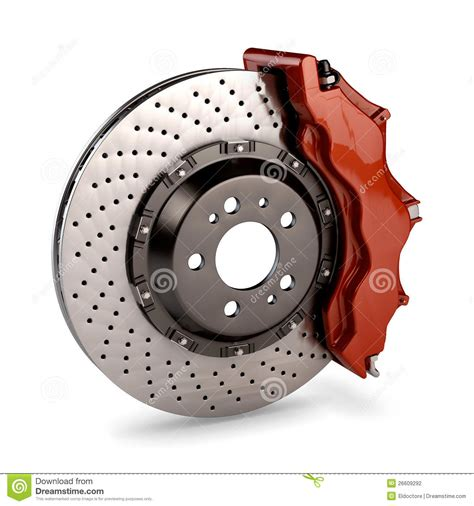 brake disc and calliper from a racing car stock