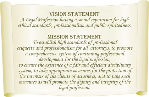 exle of vision statement vision statement general council