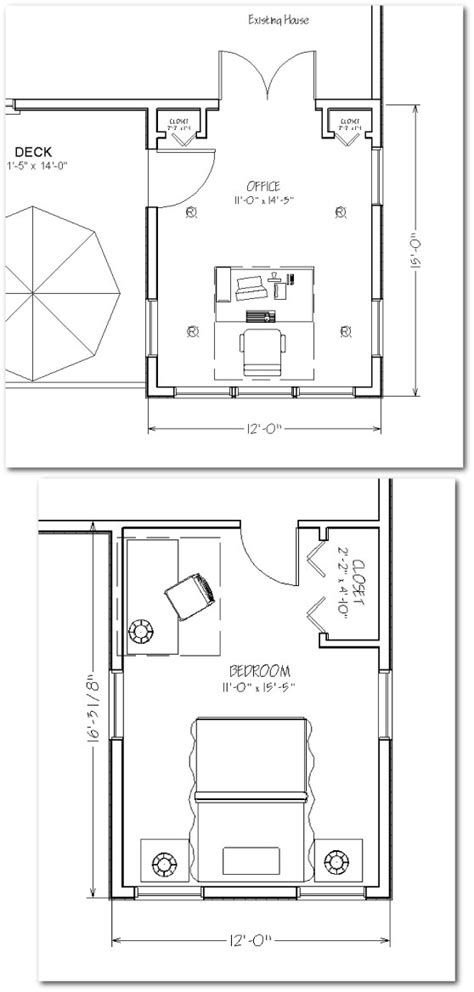Two Story Home Extension 360 Sq Ft House Addition Blueprints Free