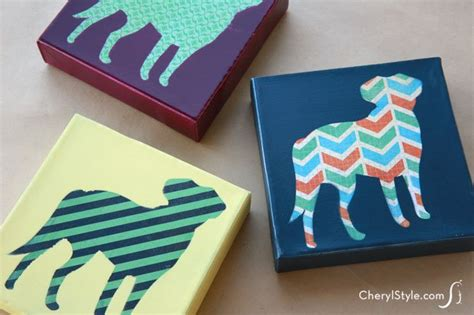 diy canvas crafts diy pet print everyday dishes