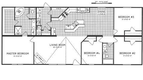 mobile home floor plans 4 bedroom mobile homes ideas