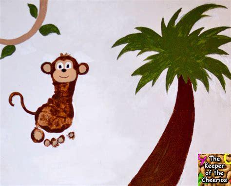 new year monkey handprint monkey footprints