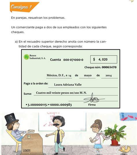 respuestas de la pajina 85 de primaria los cheques del jefe bloque iii lecci 243 n 45 apoyo