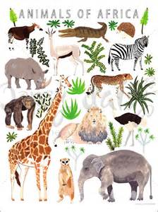 Safari Animal Wall Stickers animals of africa poster wall decal by oopsy daisy