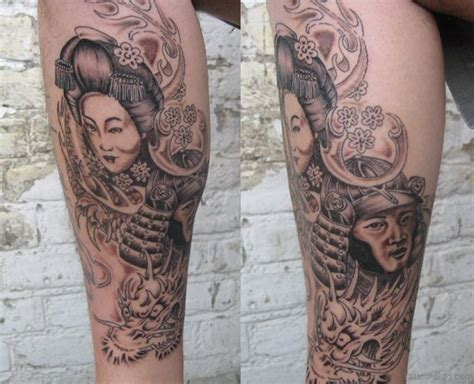 blue geisha tattoo 59 graceful geisha tattoos for leg