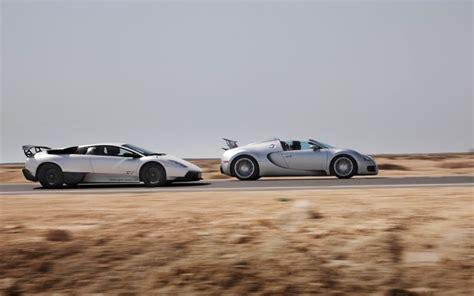 what is faster a lamborghini or a bugatti bugatti veyron grand sport vs lamborghini murcielago lp
