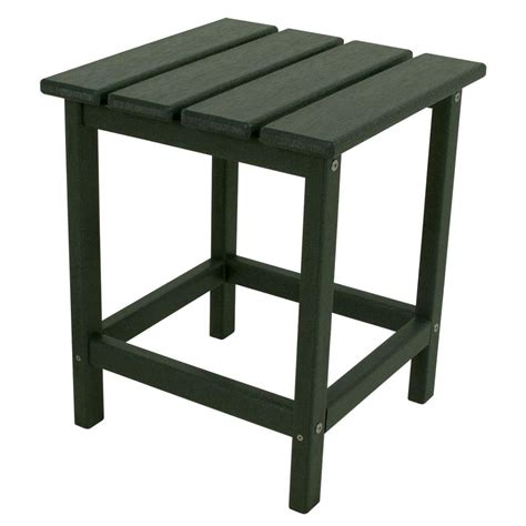 Polywood Long Island 18 In Green Patio Side Table Ect18gr Green Patio Table