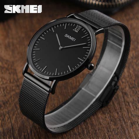 skmei luxury brand ultra thin stainless steel