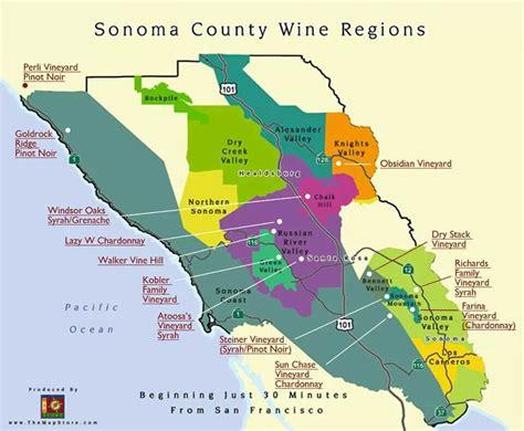 sonoma winery map sonoma regions sonoma wineregions wine
