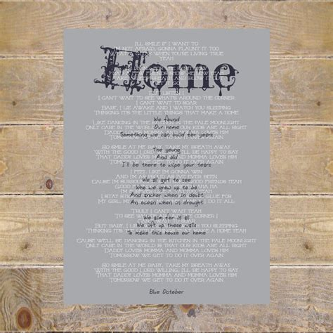 Home Blue October Lyrics | home blue october lyrics balcony etsy blue family home