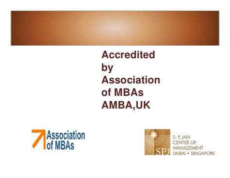 Mba Accredited Uk by Sp Jains Global Mba
