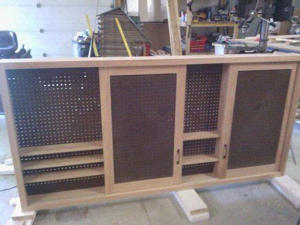 sliding door shop cabinet awesome job   diy project small spaces   shop