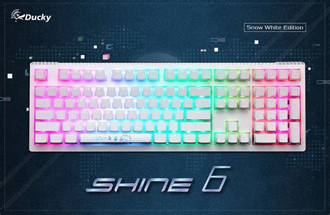 Keyboard Ducky Shine 6 Dksh1608st Cusadabt2 Special Edition Blue Switc ducky shine 6 snow white rgb led mechanical keyboard cherry mx