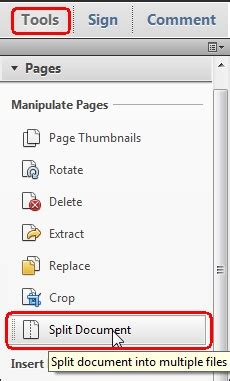 How To Split A Pdf Document