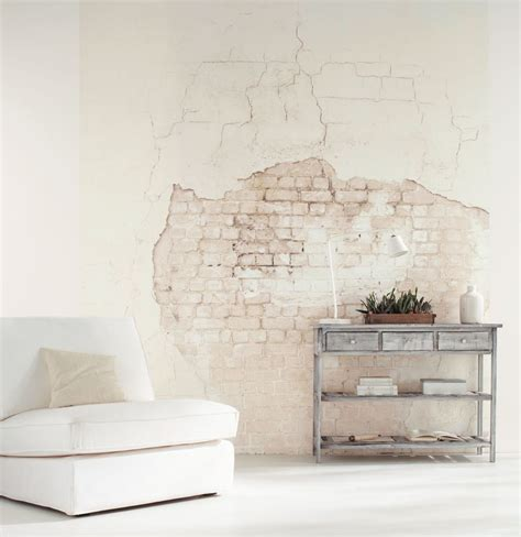 wallpaper wall effect this distressed brick wall effect wallpaper mural is