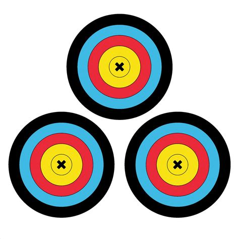 printable bow shooting targets archery printable targets clipart best