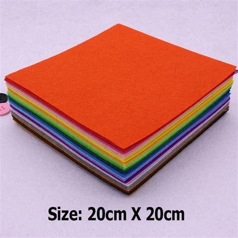 aliexpress buy 43 colors lot 20cmx20cm felt fabric