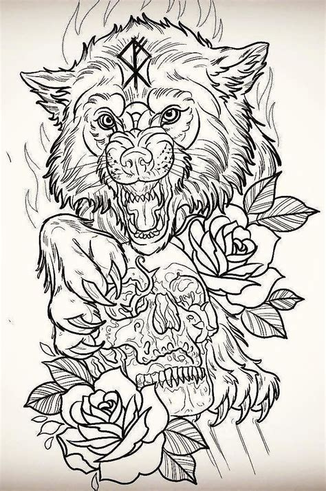 drawings tattoos wolf design wolf design