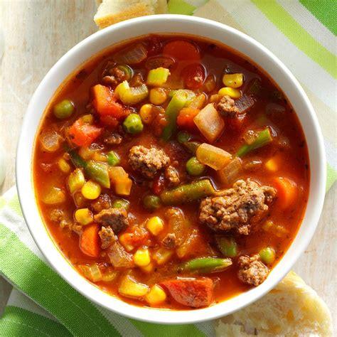 a vegetables stew spicy beef vegetable stew recipe taste of home