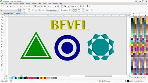 Tutorial Belajar Corel Draw X7 Pdf | tutorial belajar fungsi bevel coreldraw x7 youtube