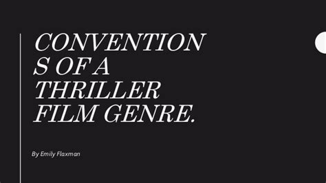 rekomendasi film genre thriller conventions of a thriller film genre