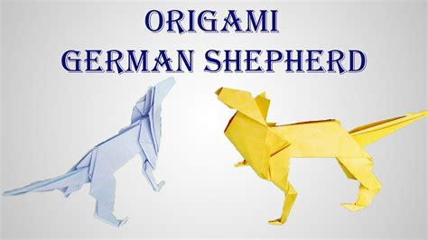 Origami German - how to make origami german shepherd