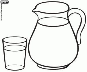 glass jug milk coloring printable game