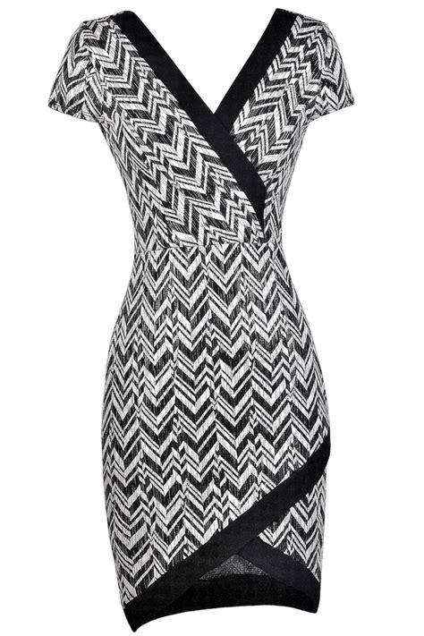 Made Me Ivory And Black Dress chevron dress black and ivory dress boutique