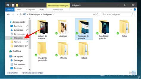 donde guarda windows 10 las imagenes de los temas c 243 mo cambiar la carpeta por defecto de las capturas de
