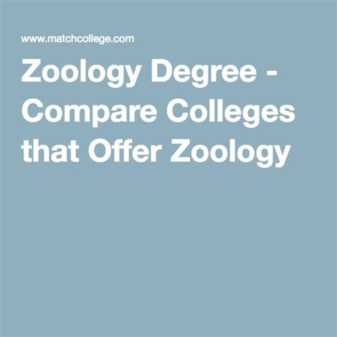 11 best zoo degree programs info images on