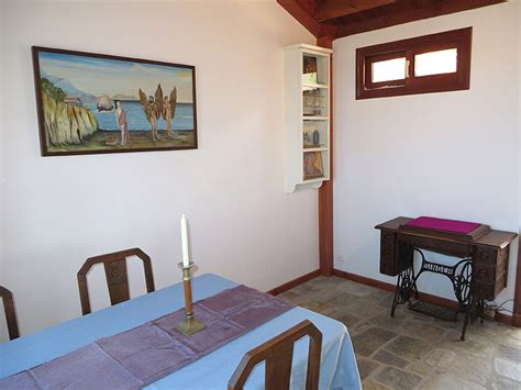 separate living room and dining room villa nafkrati luxury seaview 3 bedroom 2 bath house for rent near armenistis ikaria