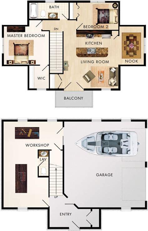 2 bedroom 2 car garage house plans