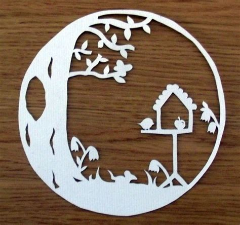 paper cutting templates woodland creatures circle paper cut papercut template