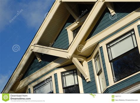 Craftsman Style House Craftsman Style House Detail Royalty Free Stock