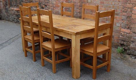plank dining table and chairs rustic plank dining table