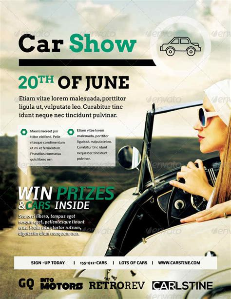 Classic Car Show Flyer Template