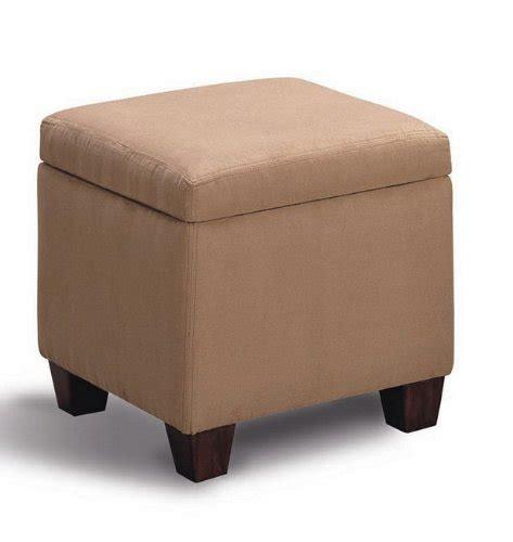 tan microfiber ottoman tan accent microfiber cube ottoman by coaster