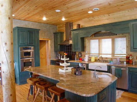 S Kitchen Cabins Il by Kitchen Colors Add Pizzazz To Your Log Home Katahdin