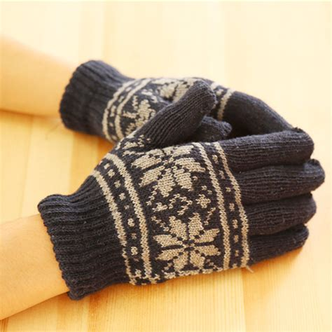 wool knit fashion new unisex winter wool knit wrist gloves