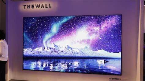 samsung wall tv samsung unveils the wall the world s modular microled 146 inch tv tech news