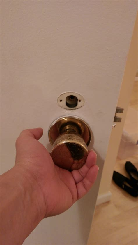 How To Remove Locked Door Knob by Lock How To Remove This Door Knob On The Mortise Lockset